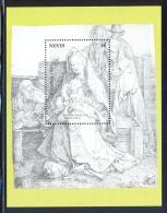 Nevis - 1991 Christmas Block (1) MNH__(THB-5644) - St.Kitts Y Nevis ( 1983-...)
