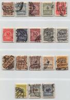 DEUTSCHES REICH, INFLA, MI 313-30 A, KORBDECKEL - Used Stamps