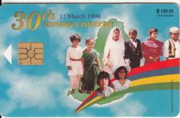 MAURITIUS ISL. - 30th Independence Anniversary , Chip GEM2.1, Tirage %20000, Used - Mauritius