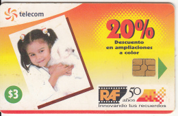 EL SALVADOR -  RAF-Kodak Express/Girl With Dog, Chip GEM 3.1, Used - El Salvador