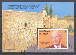 St.Vincent Grenadines - 1992 Konrad Adenauer Block MNH__(TH-16898) - St.Vincent & Grenadines
