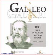 ITALIE - BU SET 2014 - GALILEO GALILEI - 9 MUNTEN - Italie