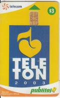 EL SALVADOR -  TELETON 2003, Chip SC9, Used - El Salvador