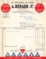 """1932 JURA """" LES EMAILLERIES DE MOREZ""""  A.RENAUD Et Cie Plaques émaillées Pour La Publicité - Frankreich"""