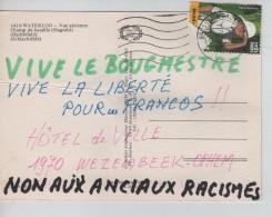 TP 3048 Tintin Au Congo S/CP De Waterloo Champ De Bataille Plis C.Bruxelles 2/3/2002 V.Wezembeek-Ophem PR3531 - Cartas