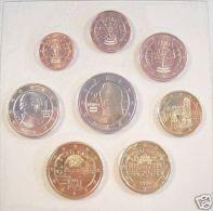 Oostenrijk     2002   De  Set Van 8 Munten / 8 Pieces De 1ct A 2 Euro . UNC Uit De Rol  UNC Du Rouleaux - Austria