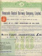THE VENEZUELA CENTRAL RAILWAY COMPANY LIMITED 1914 - Chemin De Fer & Tramway