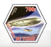 Tschad  Wabenmarke  Zeppelin Hindenburg  LZ 129  **/MNH - Zeppeline