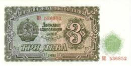 BULGARIA 3 ЛЕВА (LEVA) 1951 P-81a UNC  [ BG081a ] - Bulgaria
