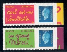 INVITATION / MERCI 2005 ADHESIFS  LOGO DULAC  COTE MAURY 30 EUROS N° 36 / 38 - Gepersonaliseerde Postzegels