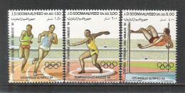 SOMALIA - 1984 - 3 VALORI NUOVI STL DEDICATI AI GIOCHI OLIMPICI DI LOS ANGELES - IN OTTIME CONDIZIONI. - Summer 1984: Los Angeles