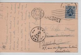 TP 285 S/CP Château De Biourge C.Namur 29/5/1932+Griffe Maredret V.Gand Réexpédiée V.Louvain PR3536 - Postmark Collection