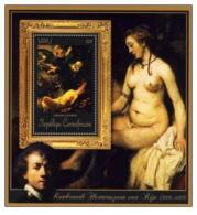 CENTRAFRICAINE 15 SHEETS COLLECTION ART PAINTING REMBRANDT