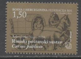 BOSNIA , CROAT,  2016, MNH, ROMAN POSTAL SYSTEM, HORSES, 1v - Post