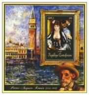 CENTRAFRICAINE 15 SHEETS COLLECTION ART PAINTING RENOIR