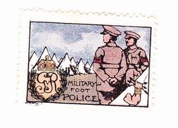 Vignette Militaire Delandre - Angleterre - Military Foot Police - Erinnofilia