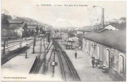POITIERS - La Gare, Vue Prise De La Passerelle - Trains - Poitiers