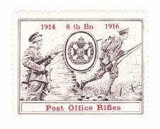 Vignette Militaire Delandre - Angleterre - Post Office Riffles - Erinnofilia