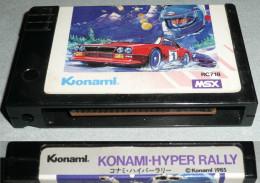 Rare Vintage Retro-gaming KONAMI MSX Cartouche De Jeu HYPER RALLY, 1985 Console Retrogaming - Jeux électroniques