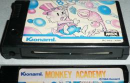 Vintage Retro-gaming KONAMI MSX Cartouche De Jeu MONKEY ACADEMY, 1984 Console Retrogaming - Jeux électroniques