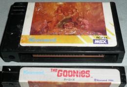 Rare Vintage Retro-gaming KONAMI MSX Cartouche De Jeu The GOONIES, 1986 Console Retrogaming - Jeux électroniques