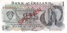 NORTHERN IRELAND 1 POUND ND (1979) P-61cs UNC SPECIMEN NUMISMATIC PRODUCTS ★010675 - Noord-Ierland