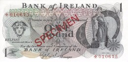 NORTHERN IRELAND 1 POUND ND (1979) P-61cs UNC SPECIMEN NUMISMATIC PRODUCTS ★010675 - [ 2] Ireland-Northern