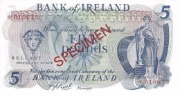 NORTHERN IRELAND 5 POUNDS ND (1979) P-62cs UNC SPECIMEN NUMISMATIC PRODUCTS ★010675 - [ 2] Irlanda Del Norte