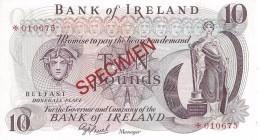 NORTHERN IRELAND 10 POUNDS ND (1979) P-63cs UNC SPECIMEN NUMISMATIC PRODUCTS ★010675 - [ 2] Ireland-Northern