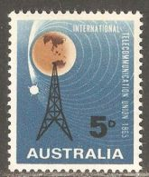 Australia 1965 Mi# 352 ** MNH - ITU, Cent. / Space - 1952-65 Elizabeth II: IEmissione Prima Decimali