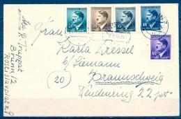1944 , BOHEMIA Y MORAVIA , CARTA CIRCULADA DESDE BRÜNN  A BRAUNSCHWEIG , HITLER - Bohemia Y Moravia
