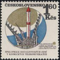 Czechoslovakia / Stamps (1970) 1863: Intercosmos (Rocket Cosmos); Painter: Jaroslav Lukavsky - Space