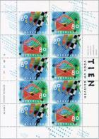 1993 Vel Tien Voor Uw Brief  NVPH V1571A 14x12.5 Postfris/MNH** R 1B 1B 1B 1B - Blokken