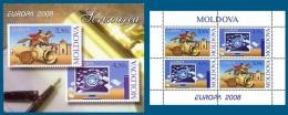 Moldova 2008 Mih. 611/12 Europa-Cept. The Letter (booklet) MNH ** - Moldawien (Moldau)
