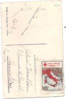 VICENZA Piazza Dei Signori Con Le Colonne Erinophilie Croix Rouge - Militaria 1915 - Vicenza