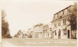 Oak Lake Manitoba Canada (near Sifton), Main Street Scene, Oakland Hotel, Autos, C1920s Vintage Real Photo Postcard - Manitoba