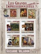 COMORES 2009 SHEET SUZANNE VALADON IMPRESSIONISTS ART PAINTINGS LES GRANDS IMPRESSIONISTES PEINTURES PEINTRES Cm9301a - Comores (1975-...)
