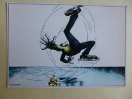 FANTAISIES  Illustrateur Humour  SERRE   La Patinoire   SEPT 2016  306 - Künstlerkarten