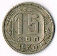 USSR 1940 15 Kopeks - Russia