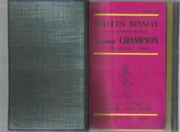 Catalogue De Timbres Poste, Reliure N° 642 à 653 , 12 Numéros ,  07/57-06/58 , T. Champion , 2 Scans ,  Frais Fr : 6.50€ - France