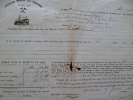 Connaissement 1950 Sociedad Minera Del Guadania La Loja Mines Minerai En L'état - Tramways