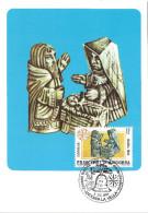 ANDORRE ESPAGNOL - CARTE MAXIMUM 1er JOUR - N° 171 - NOEL 1984 - Andorre Espagnol