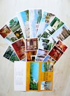 Set Of 12 Post  Cards In Folder From Ukraine Ussr Crimea Alupka Palace Museum 1976 - Ukraine
