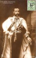 [DC3315] CPA - H. M. KING GEORGE V IN CORONATION ROBES - Viaggiata 1912 - Old Postcard - Case Reali