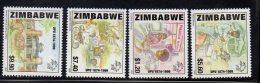 1999 Zimbabwe UPU Motorcycle Truck  Complete Set Of  4  MNH - Zimbabwe (1980-...)