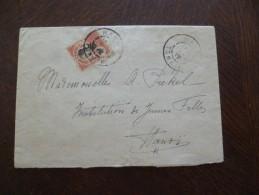 Lettre France Colonies Française Indochine Seul Sur Lettre Hanoï Pour Hanoï - Lettres & Documents