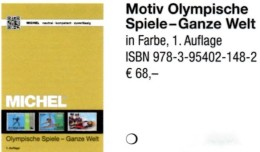 Erstauflage Olympia MICHEL 2016 ** 68€ Olympiade Block/Sets Topic Catalogue Of Olympic Stamp/bloc ISBN 978-3-95402-148-2 - Badges
