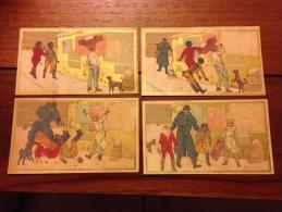 Chromos Fabrique De Chapeaux Fleury Lyon Série De 4 Chromos - Trade Cards