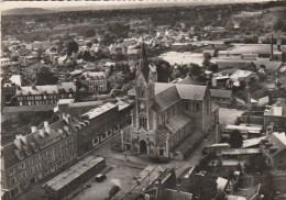 Cpsm - Flers - Eglise Et Place Saint Jean - En Avion Au Dessus De... - - Flers