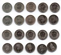 Schweiz 50 Rappen 2x 1969, 1970, 1975, 1977, 2x 1979, 1980, 1981und 1982 - Suisse